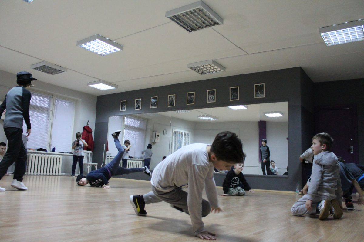 Занятия Летов в школе Брейк-Данса в Минске